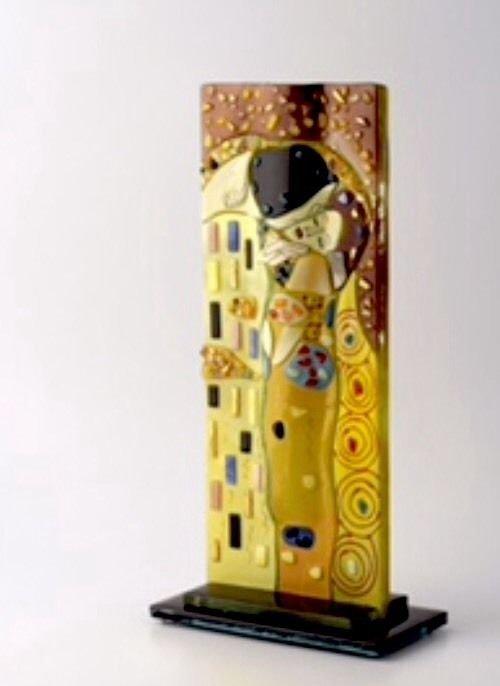 """The Kiss"" Mosaic Glass Vase by Jim Battista"