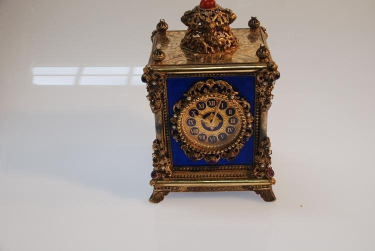 Continental Carriage Clock with Reuge Music Box.