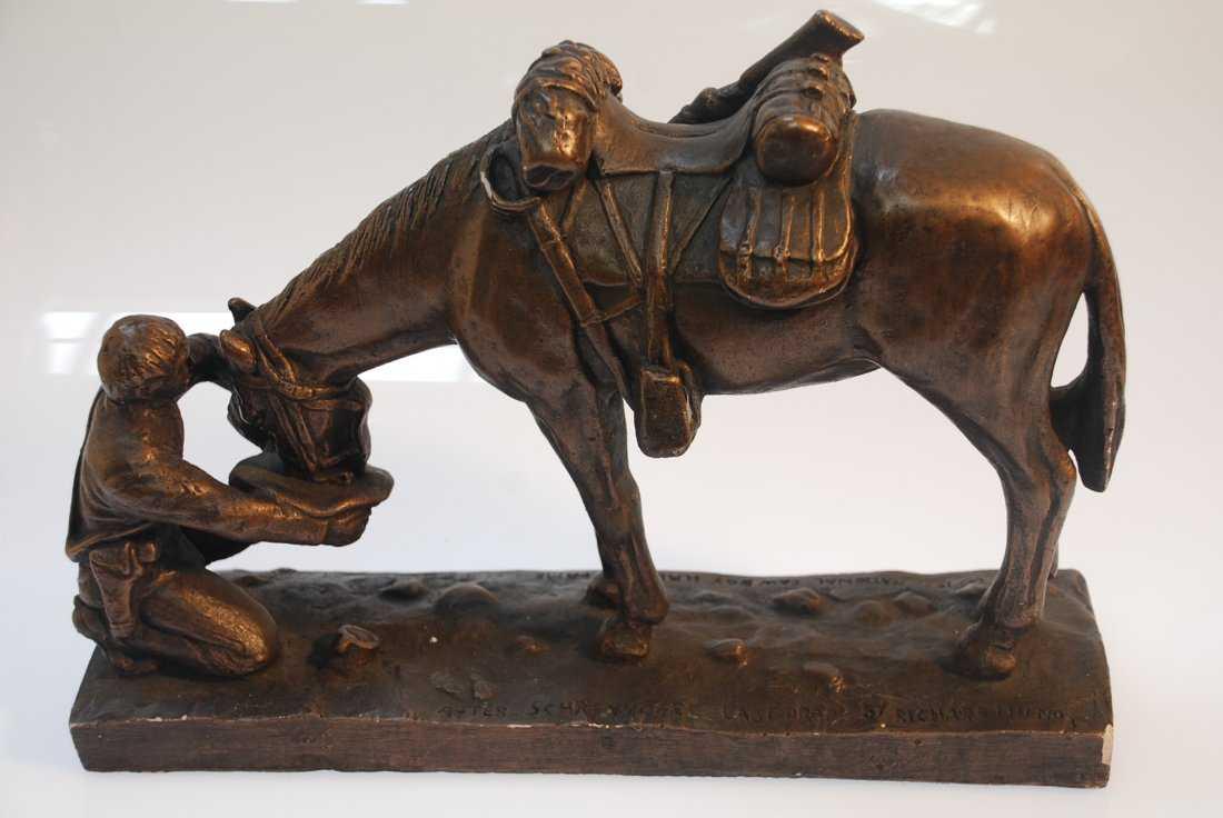 Black African Rhino Wood Carving - Langford Gallery