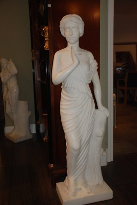 White Marble Statue Of Woman