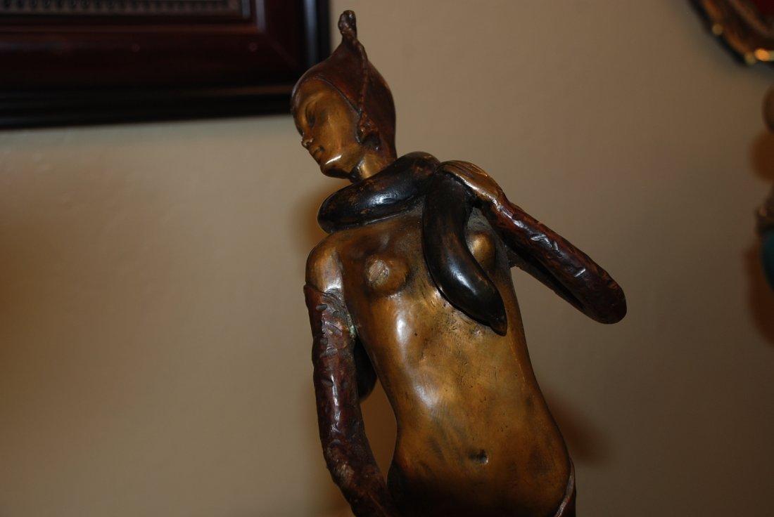 Bronze Art Deco Lady w/ Dual Patina by D.H. Chiparus - 7