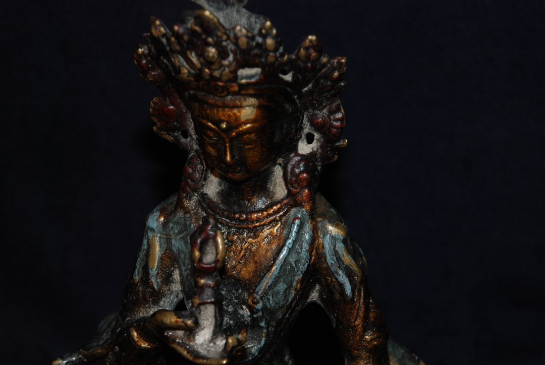 Antique Bronze of Hindu Goddess - 3