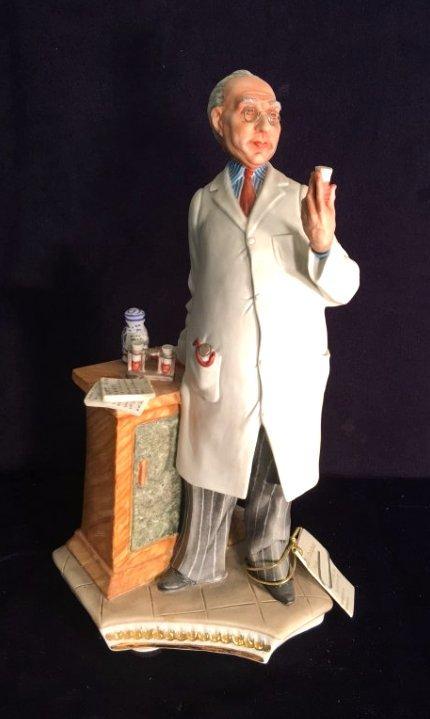 Capodimonte Porcelain Statue of Pharmacist