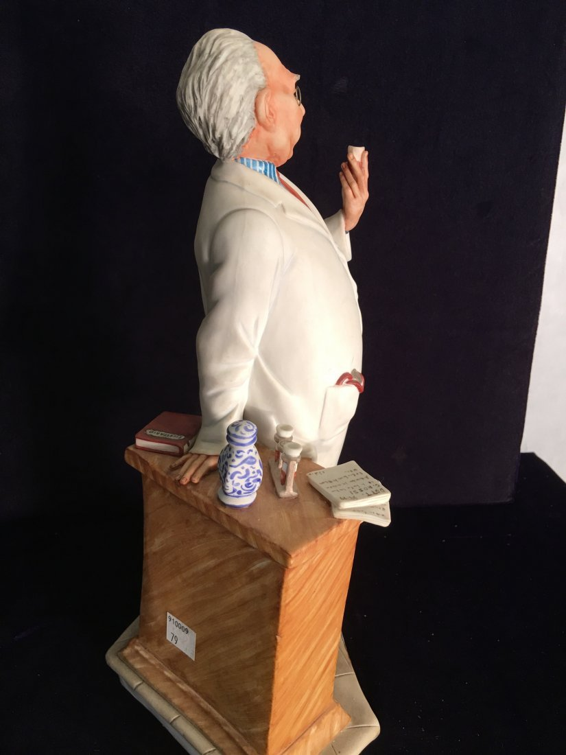 Capodimonte Porcelain Statue of Pharmacist - 3