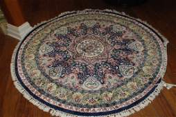 Hand Woven Silk Round Area Rug