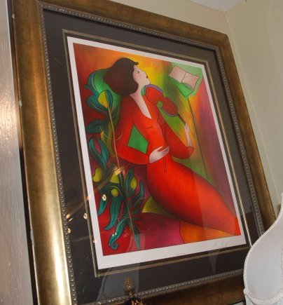 """Mont d'Or Crimson"" Print Signed by Linda Le Kinff"