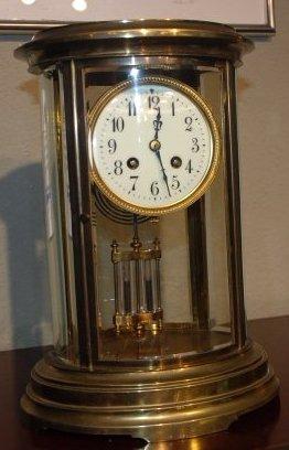 1900's French Bronze Pendulum Clock