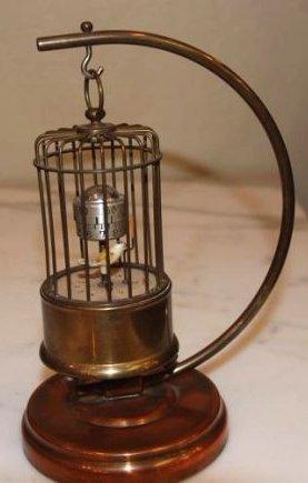 Rare and Unusual German Birdcage Clock