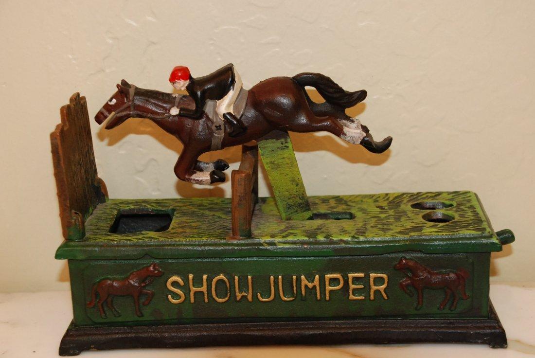 Antique Bronze Mechanical Horse Race Bank