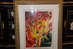 Print Titled Triumph of Music by Marc Chagall