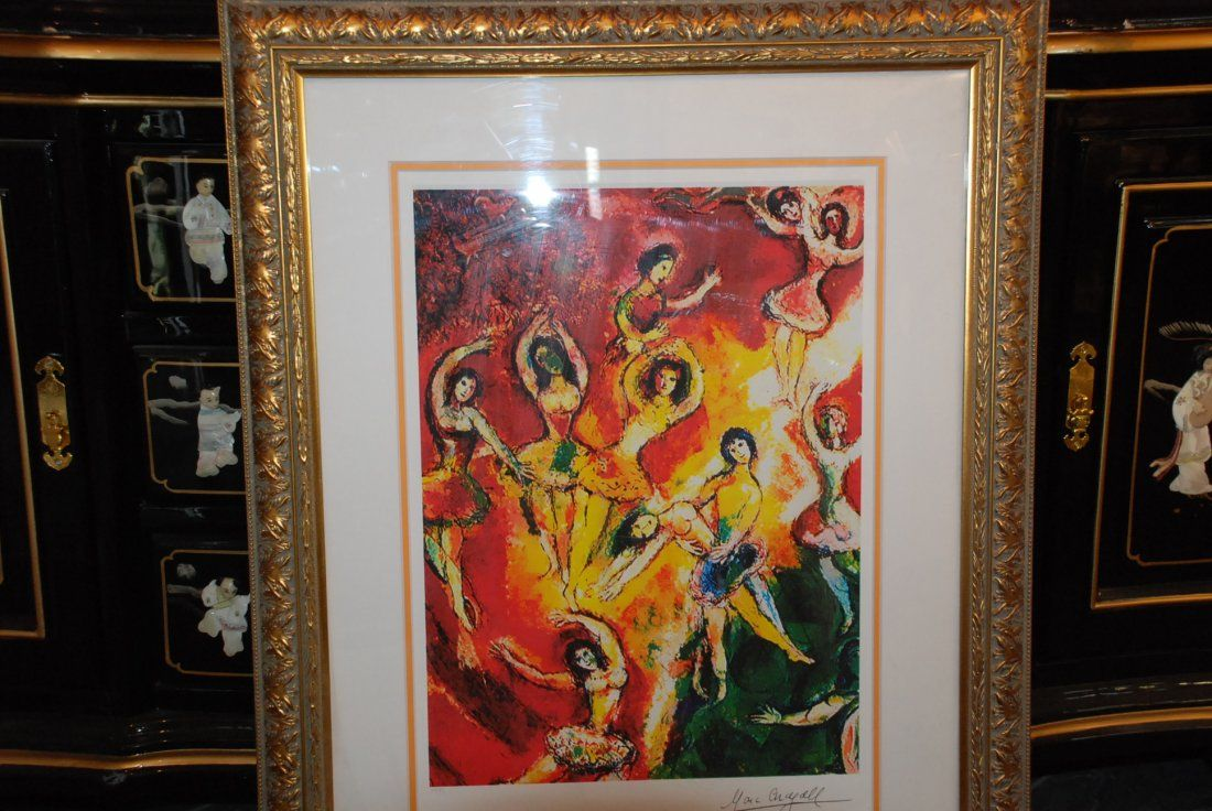 """Print Titled """"Triumph of Music"""" by Marc Chagall"""