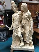 Large Marble Statue of Alexander the Great with Woman