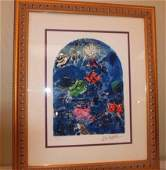 Stain Glass Windows by Marc Chagall Print Signed