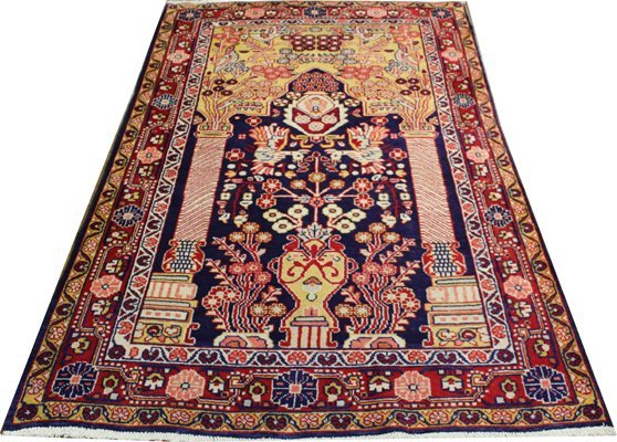 "71001: Hand-Knotted Persian  - 4' X 6'9"" # 71001"