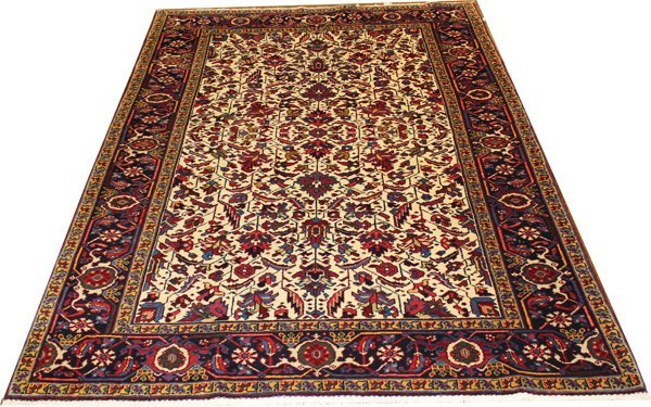 "71006: Hand-Knotted Heriz  - 4'9"" X 6'7"" # 71006"