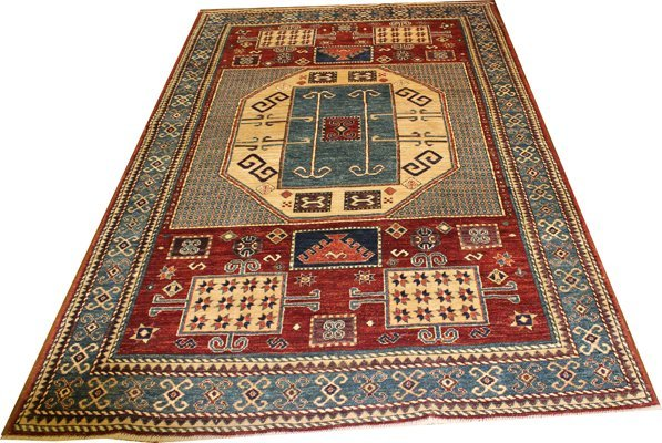 "71008: Hand-Knotted peshawar  - 5'1"" X 8' # 71008"