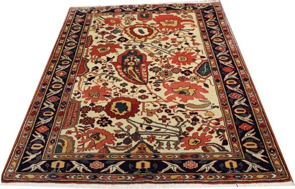 "71011: Hand-Knotted Persian  - 4'8"" X 6'7"" # 71011"