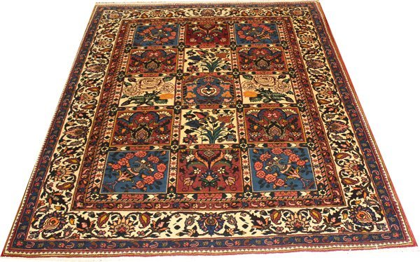 "71012: Hand-Knotted Persian  - 4'7"" X 6'7"" # 71012"