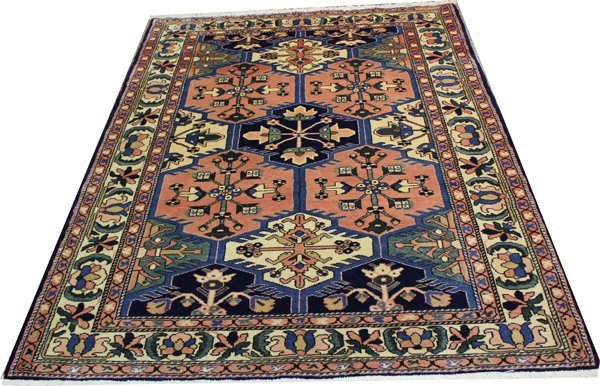 "71013: Hand-Knotted Persian  - 4'8"" X 6'7"" # 71013"