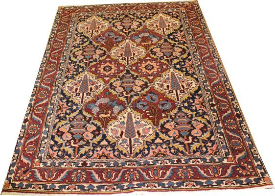 "71014: Hand-Knotted Persian  - 4'11"" X 7' # 71014"