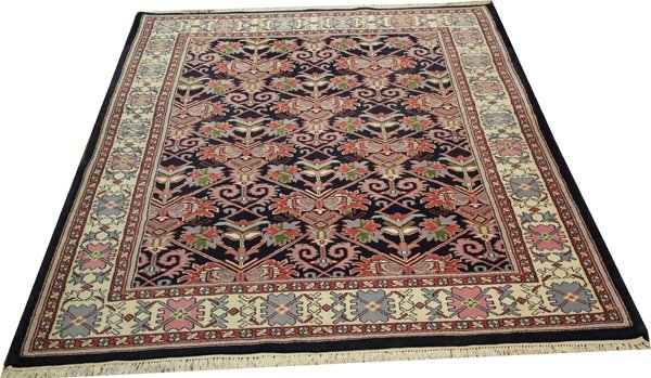 71026: Hand-Knotted Indo  - 6' X 9' # 71026