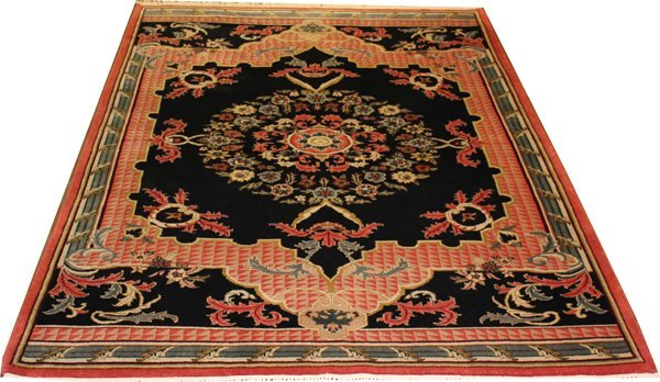 71027: Hand-Knotted Indo  - 6' X 9' # 71027