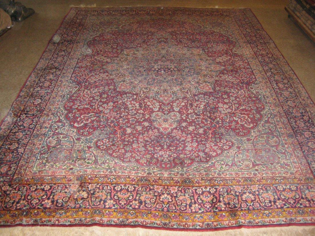 "028911: Antique Perisan Lavar Kerman - 7' x 11'5"""