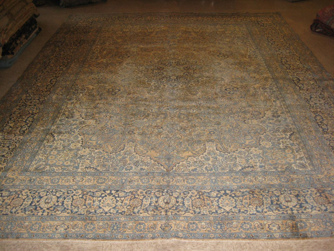 "030412: Antique Perisan Tabriz - 10' x 13'2"""