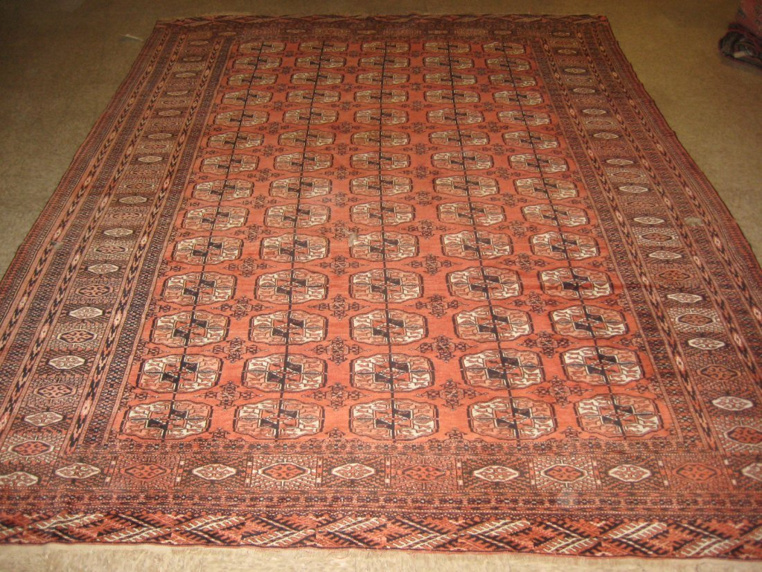 034711: Antique Russian Turkeman - Has 3 small holes. -