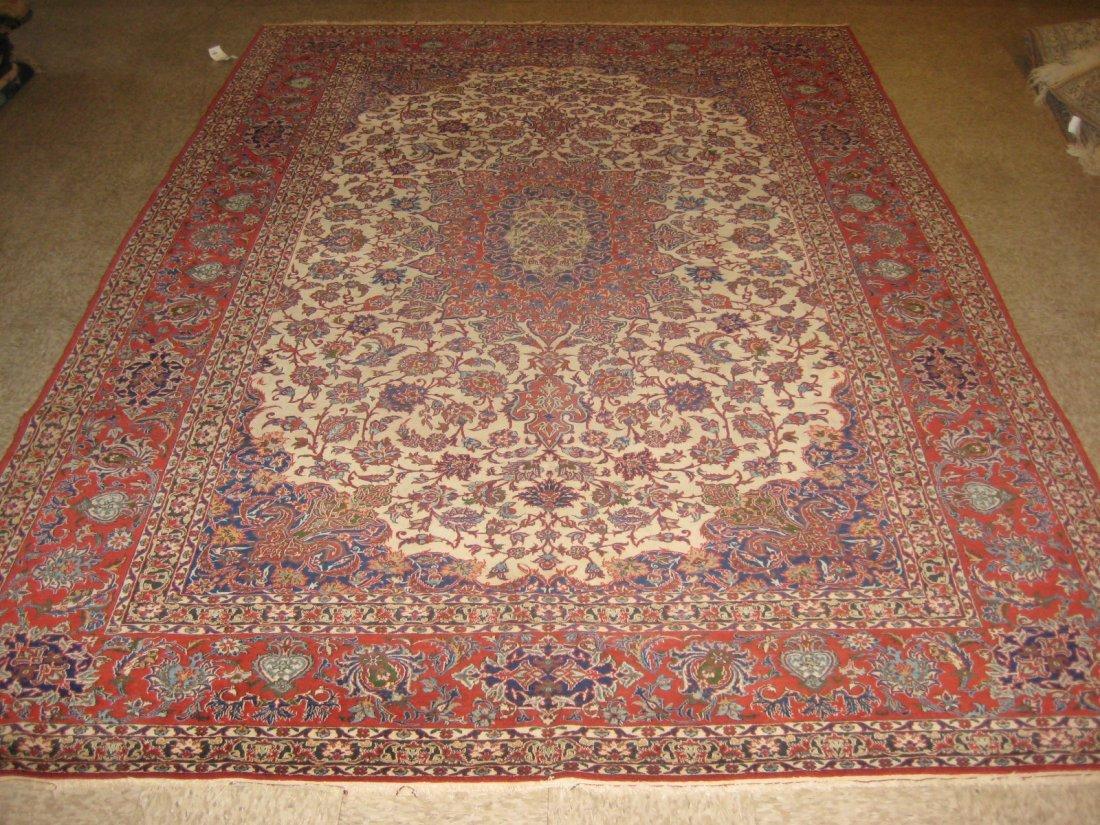 "050109: Semi Antique Isfahan - 7'3"" x 10'6"""