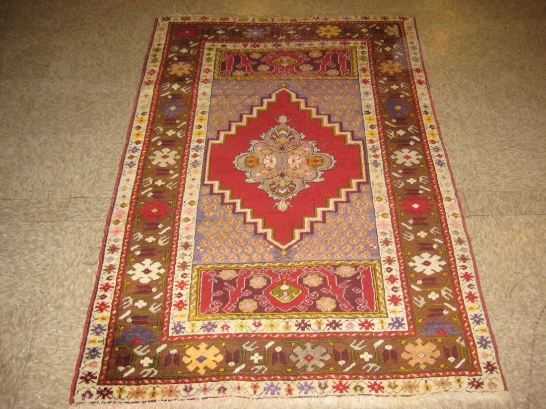"052112: Antique Turkish Anatolian - 3'6"" x 5'4"""