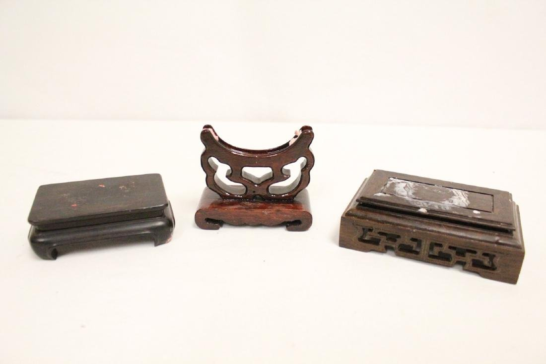 Lot of misc. wood stands - 10