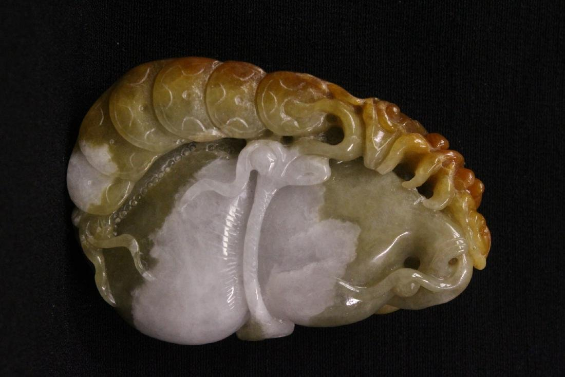 A finely carved jadeite ornament - 7