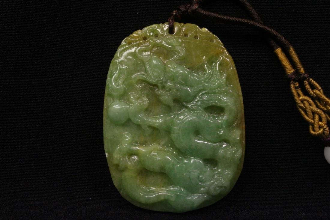 2 Chinese jadeite carved ornaments - 7
