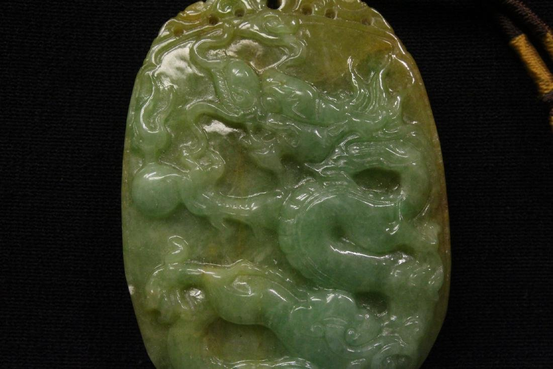 2 Chinese jadeite carved ornaments - 8