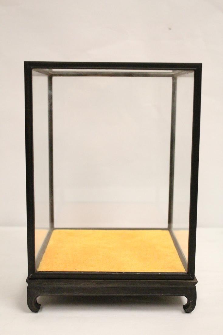 3 zitan wood framed display cubes - 5