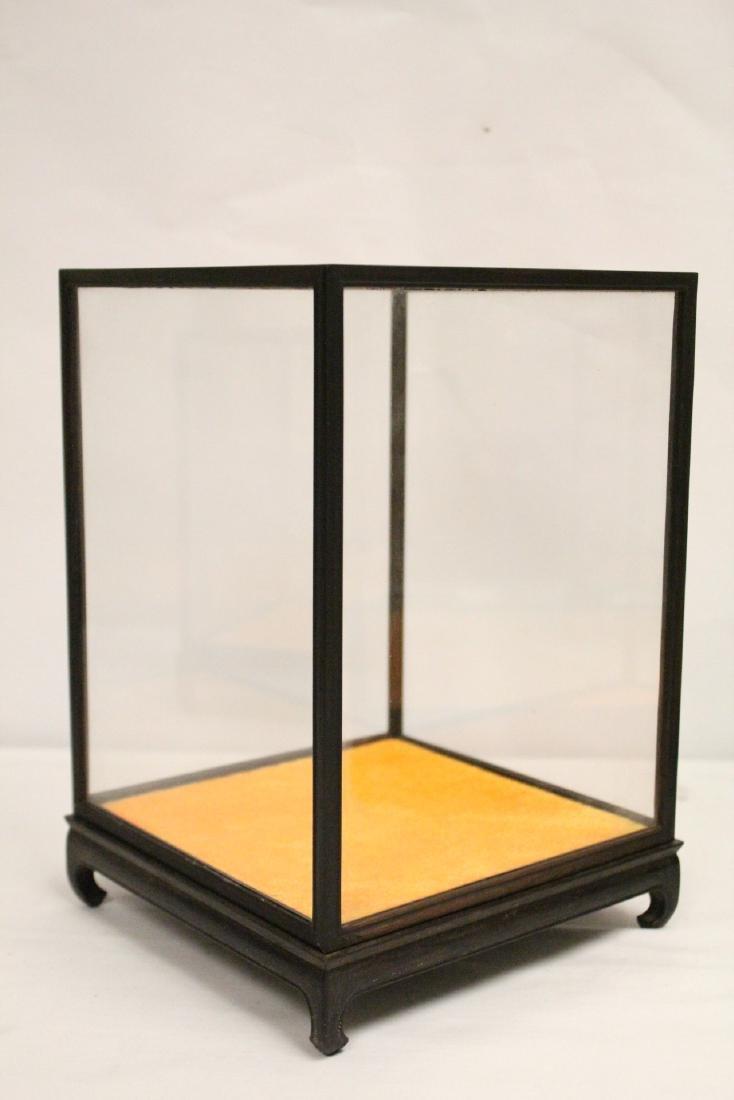 3 zitan wood framed display cubes - 6
