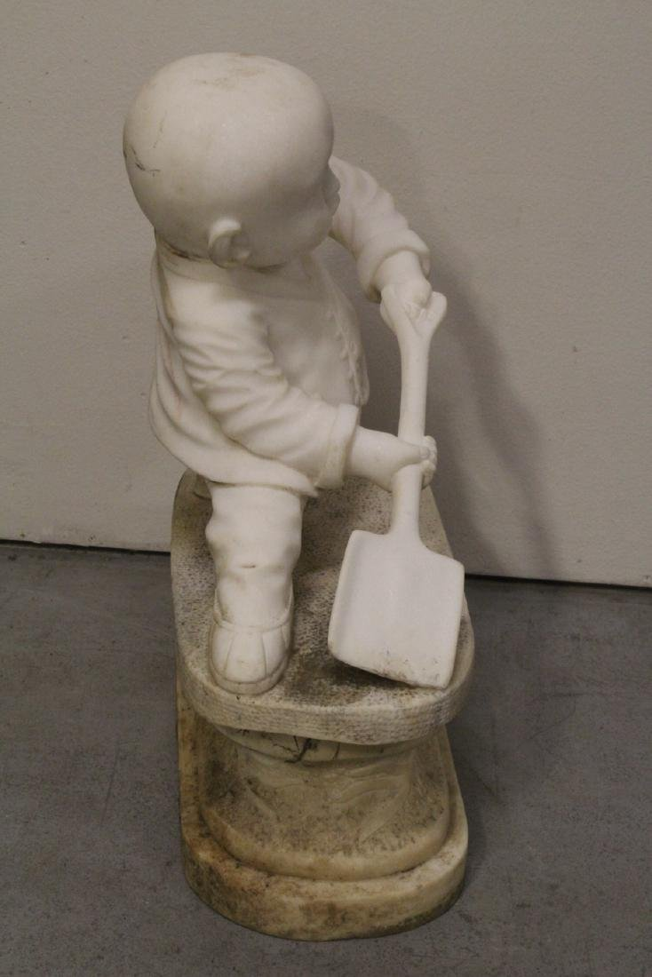 A very cute Chinese white marble carving - 10