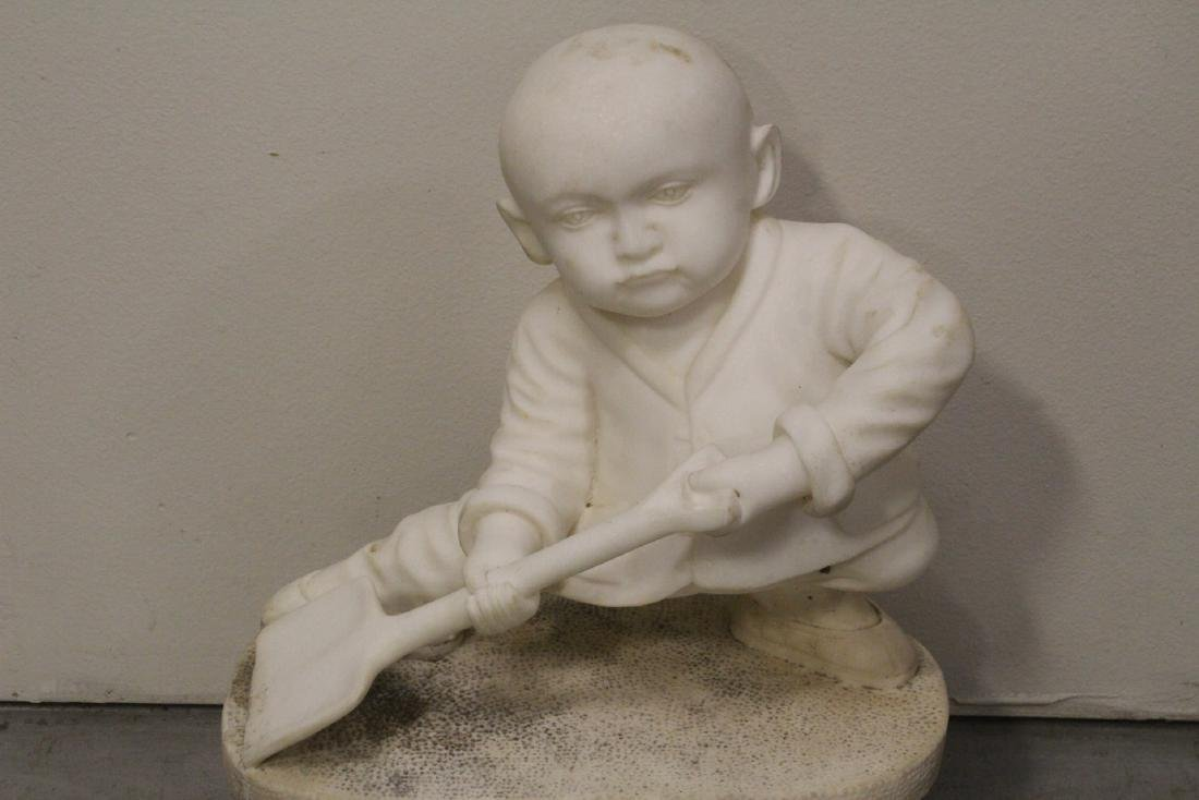 A very cute Chinese white marble carving - 2