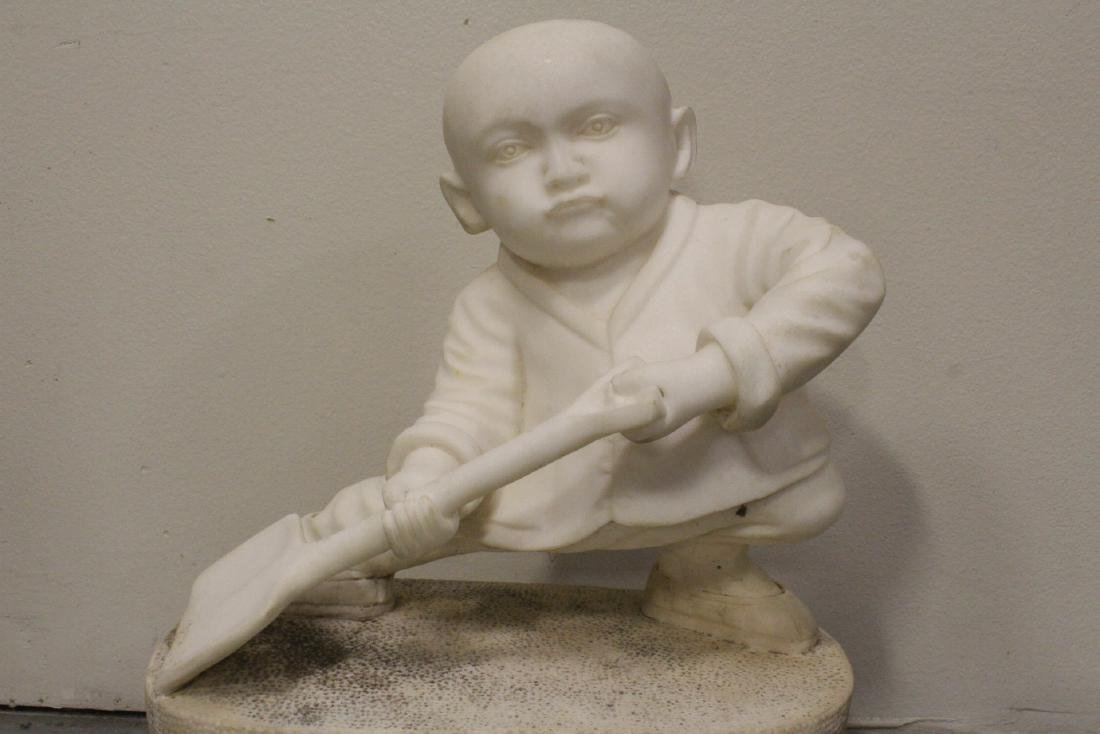 A very cute Chinese white marble carving - 4