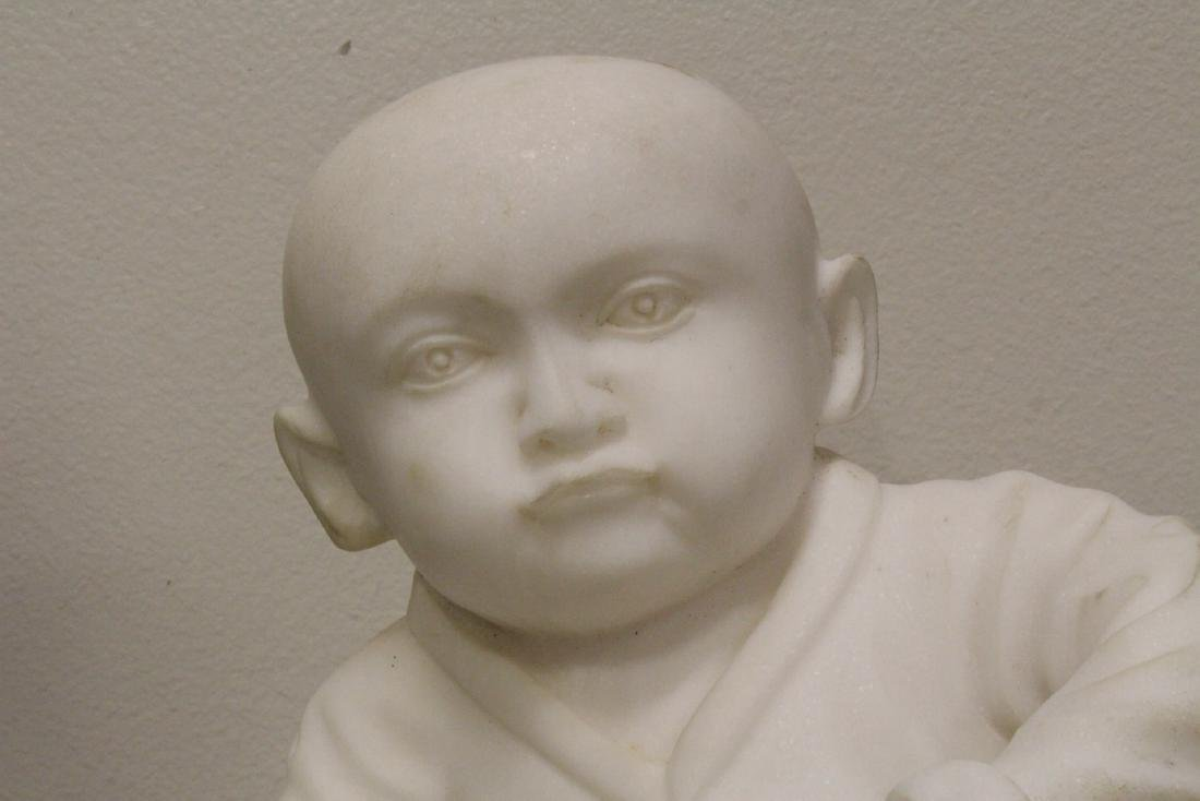 A very cute Chinese white marble carving - 5