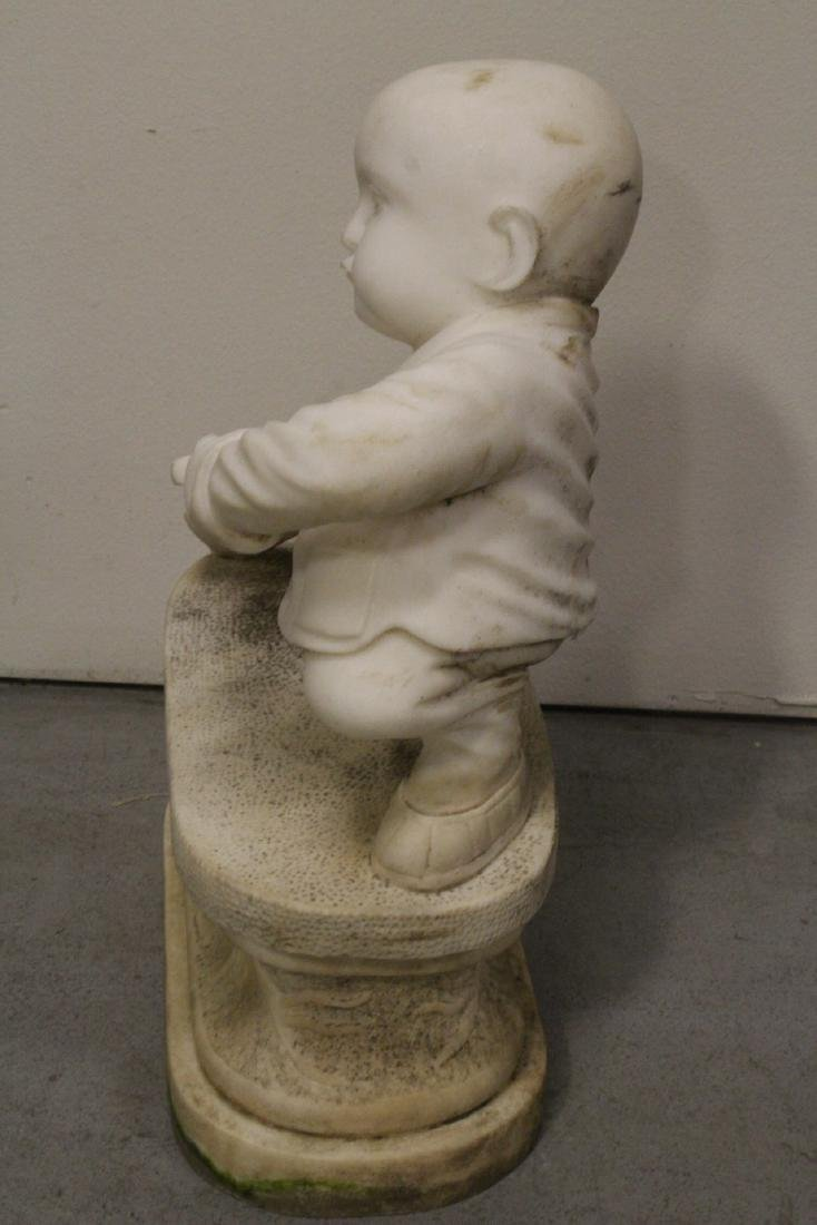 A very cute Chinese white marble carving - 7