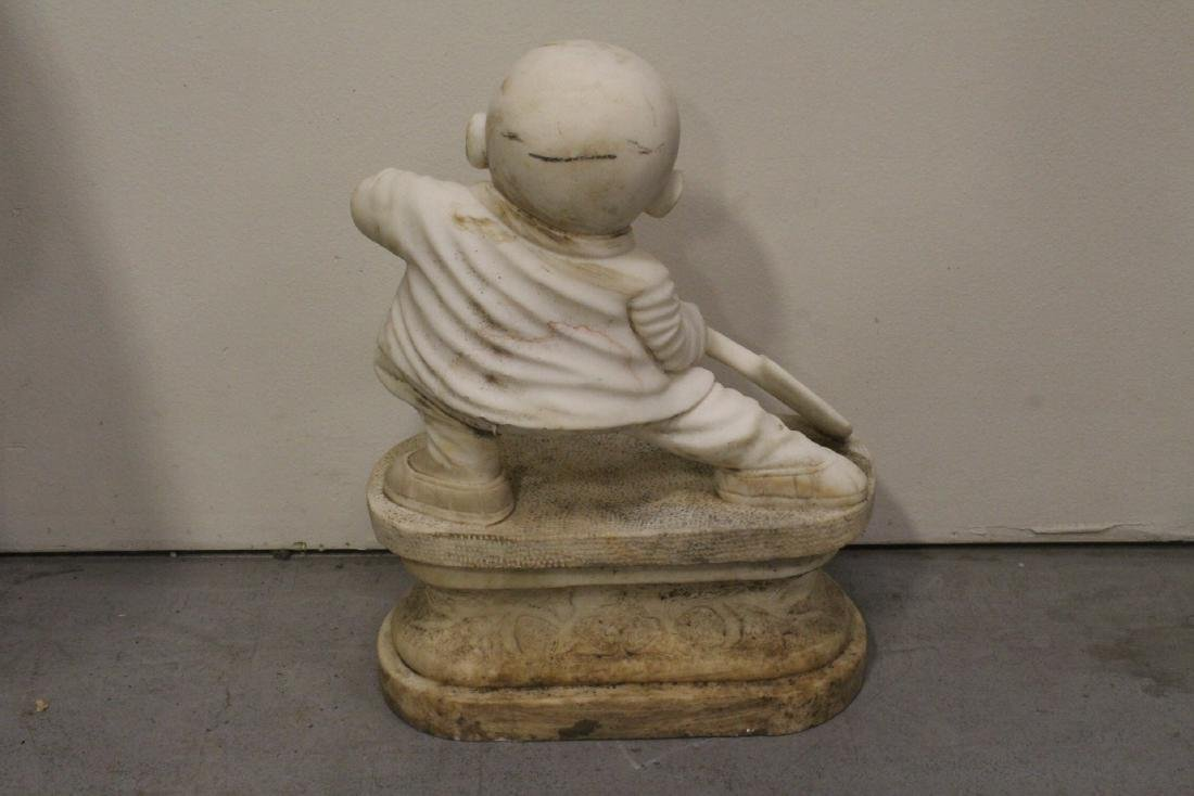 A very cute Chinese white marble carving - 8