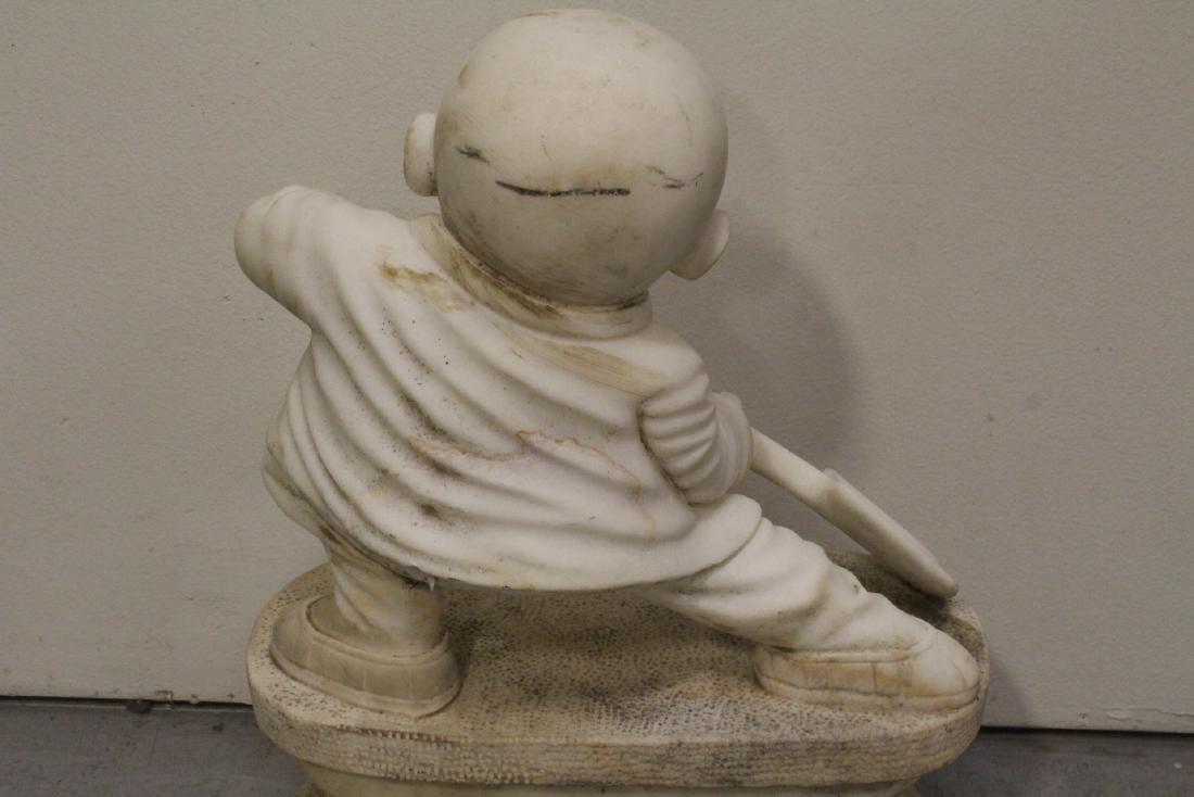 A very cute Chinese white marble carving - 9