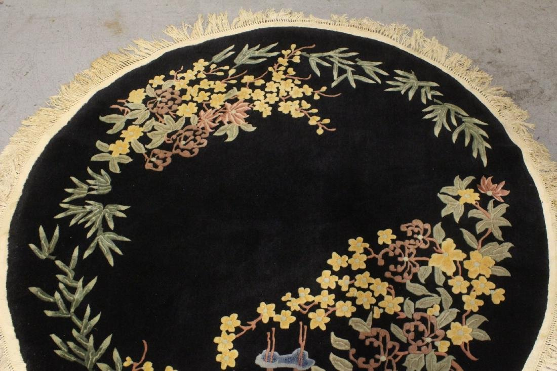 A Chinese hand made black background carpet - 2
