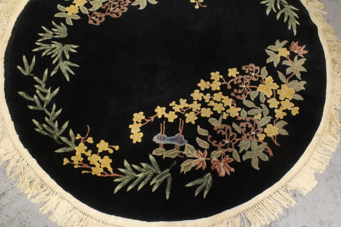 A Chinese hand made black background carpet - 3