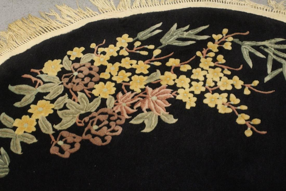 A Chinese hand made black background carpet - 4