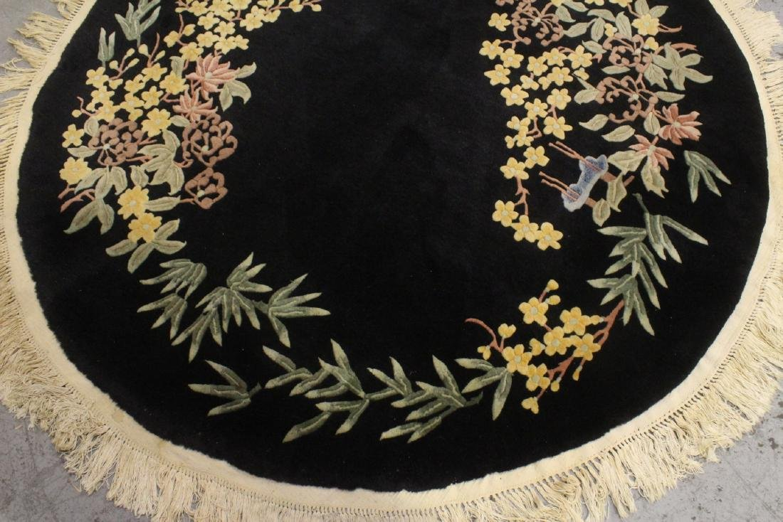 A Chinese hand made black background carpet - 6