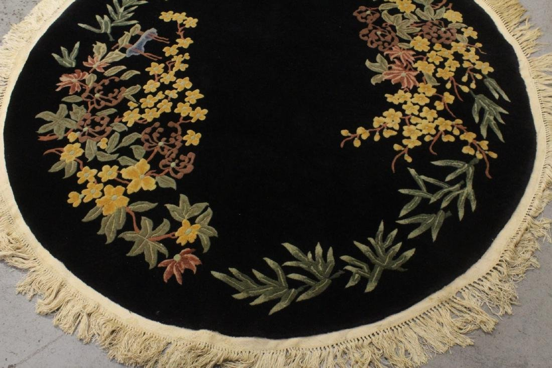 A Chinese hand made black background carpet - 7