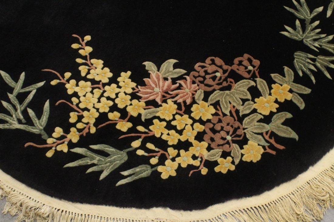 A Chinese hand made black background carpet - 8